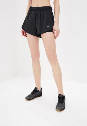 Шорты спортивные Nike FLEX WOMENS 2-IN-1 TRAINING SHORTS. Цвет: черный