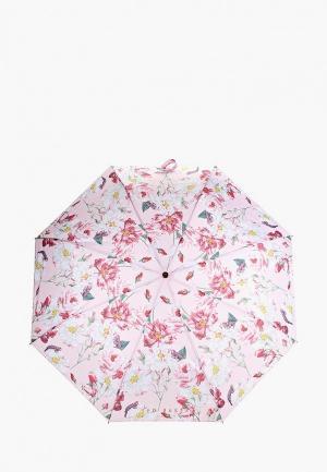 Зонт складной Ted Baker London. Цвет: розовый
