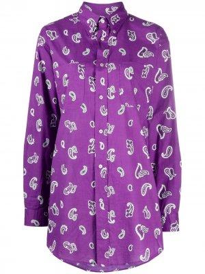 Рубашка с принтом пейсли Etro. Цвет: фиолетовый