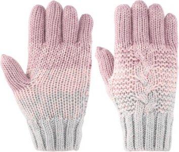 Перчатки для девочек , размер 6 Demix. Цвет: серый