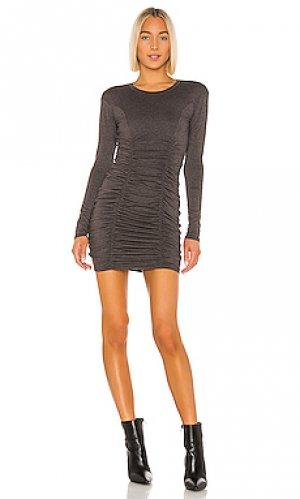 Мини платье serafina LA Made. Цвет: уголь