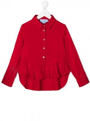 Рубашка поло с оборками Mi Sol. Цвет: красный