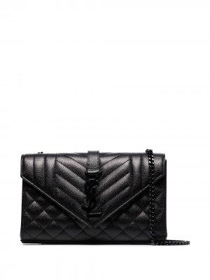 Маленькая сумка на плечо Envelope Saint Laurent. Цвет: черный
