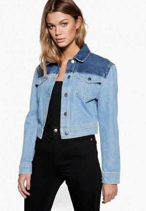 Куртка джинсовая Ivyrevel. Цвет: синий
