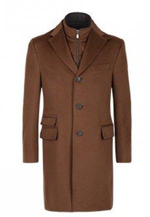 Пальто CORNELIANI. Цвет: коричневый