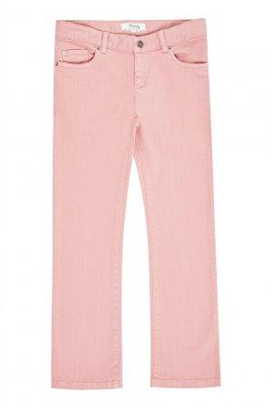 Светло-розовые джинсы Bonpoint. Цвет: multicolor