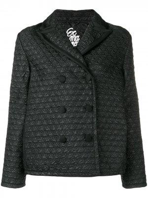 Стеганое укороченное пальто Ermanno Scervino. Цвет: черный