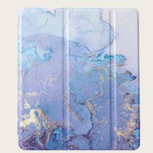Чехол для iPad с принтом SHEIN. Цвет: синий