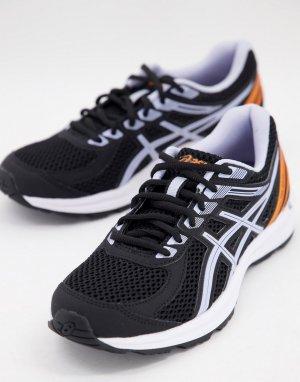 Черные кроссовки с лиловой отделкой Running Gel-Braid-Черный цвет Asics