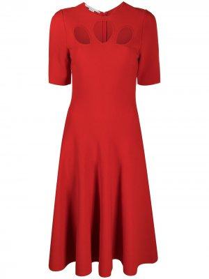 Платье миди с вырезами Stella McCartney. Цвет: красный