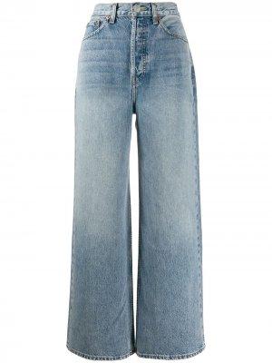 Расклешенные джинсы широкого кроя RE/DONE. Цвет: синий