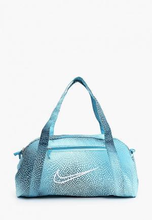 Сумка спортивная Nike W GYM CLUB BAG - AOP FA21. Цвет: голубой