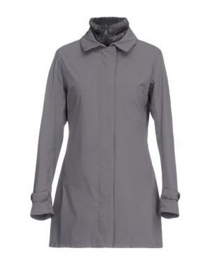 Легкое пальто PEOPLE OF SHIBUYA. Цвет: серый