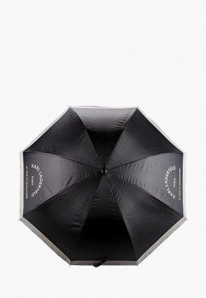 Зонт-трость Karl Lagerfeld. Цвет: черный