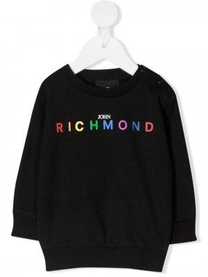 Толстовка с логотипом John Richmond Junior. Цвет: черный