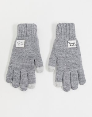 Перчатки -Серый Thomas Calvi