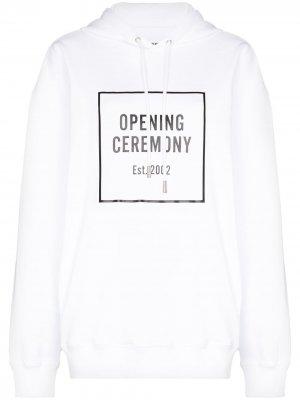 Худи с логотипом Opening Ceremony. Цвет: белый
