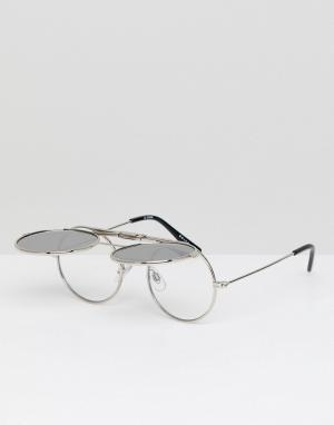 Круглые солнцезащитные очки в серебристой оправе Spitfire. Цвет: серебряный