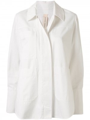 Concealed fastening shirt jacket Lee Mathews. Цвет: белый