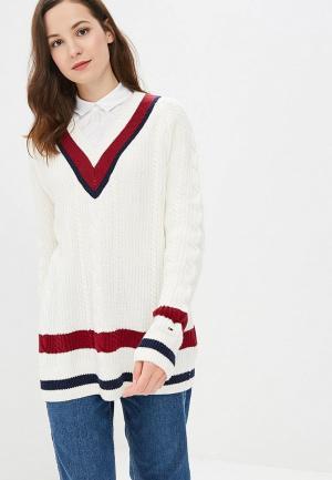 Пуловер Tommy Jeans TO052EWBWGB5. Цвет: белый