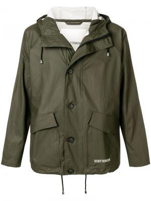 Куртка на пуговицах Stutterheim. Цвет: зеленый