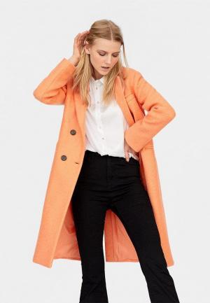 Пальто Stradivarius. Цвет: оранжевый