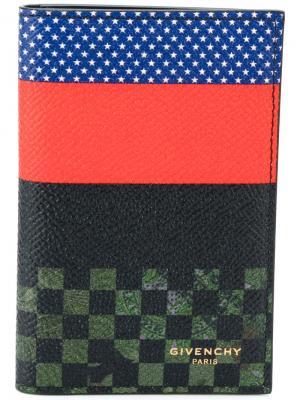 Визитница с контрастным узором Givenchy. Цвет: многоцветный