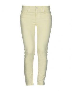 Повседневные брюки FAIRLY. Цвет: желтый