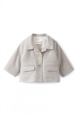 Серое клетчатое пальто Doyle Bonpoint. Цвет: серый