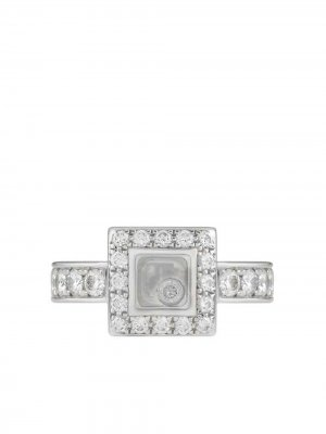 Золотое кольцо Happy с бриллиантом Chopard Pre-Owned. Цвет: серебристый
