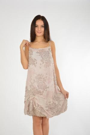 Платье COP.COPINE. Цвет: бежевый