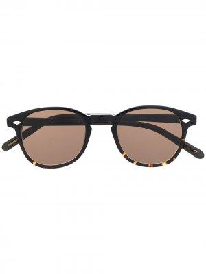 Солнцезащитные очки 711 Lesca. Цвет: коричневый
