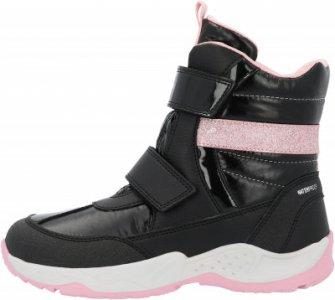Сапоги утепленные для девочек J Sentiero Girl B WPF, размер 36 Geox. Цвет: черный