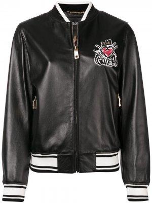 Куртка-бомбер с вышивкой Dolce & Gabbana. Цвет: черный