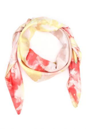 Платок F.FRANTELLI. Цвет: бежевый, розовый, лимонный