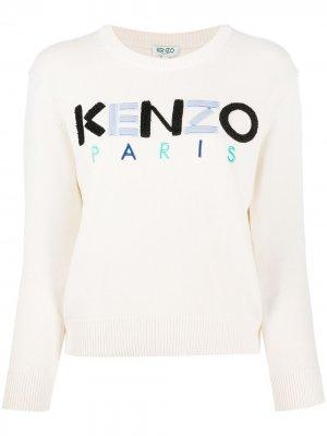 Свитер с фактурным логотипом Kenzo. Цвет: нейтральные цвета