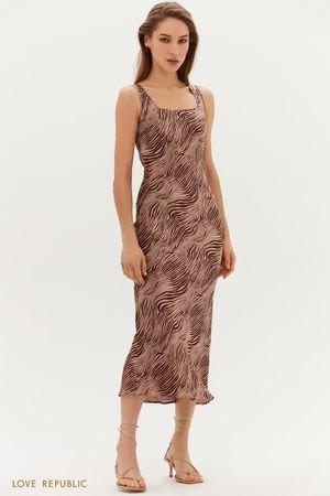 Атласное платье-миди LOVE REPUBLIC