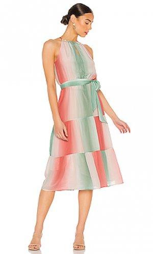 Платье leonora Parker. Цвет: розовый