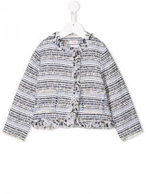 Твидовый пиджак Il Gufo. Цвет: синий