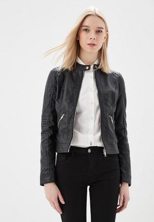 Куртка кожаная Z-Design ZD002EWATPX1. Цвет: черный