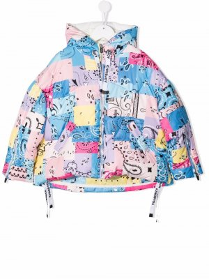 Quilted puffer jacket Khrisjoy KIDS. Цвет: синий