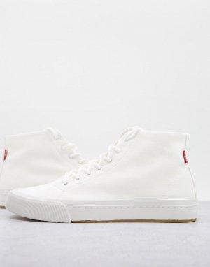 Белые кроссовки средней высоты с маленьким логотипом Levis Summit-Белый Levi's