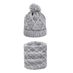 Комплект из шапочки и шарфа La Redoute. Цвет: серый