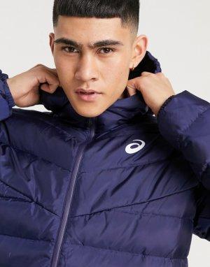 Темно-синяя куртка с капюшоном -Темно-синий Asics
