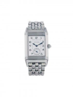 Наручные часы Reverso-Duetto pre-owned 23 мм 2000-х годов Jaeger-LeCoultre. Цвет: серебристый