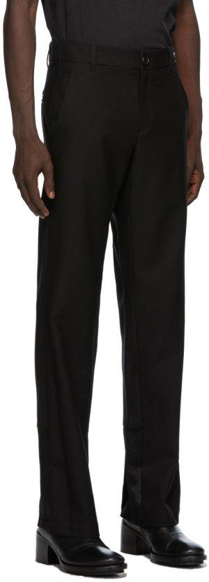 SSENSE Exclusive Black God Of Wild Advise Trousers Ann Demeulemeester. Цвет: 099 black