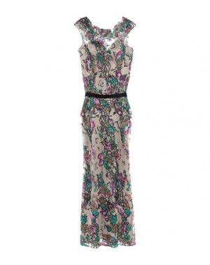 Длинное платье MIKAEL. Цвет: бежевый