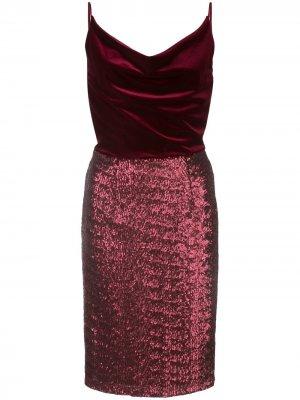 Платье миди Julissa с бархатной вставкой Black Halo