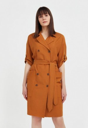 Платье Finn Flare. Цвет: коричневый