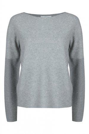 Светло-серый пуловер из шерстяного трикотажа Fabiana Filippi. Цвет: серый
